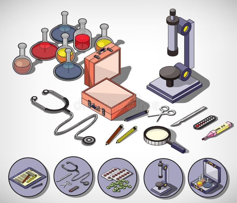 Ejemplo del concepto médico gráfico de la información stock de ilustración