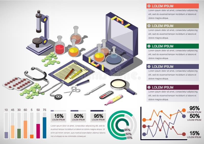 Ejemplo del concepto médico gráfico de la información ilustración del vector
