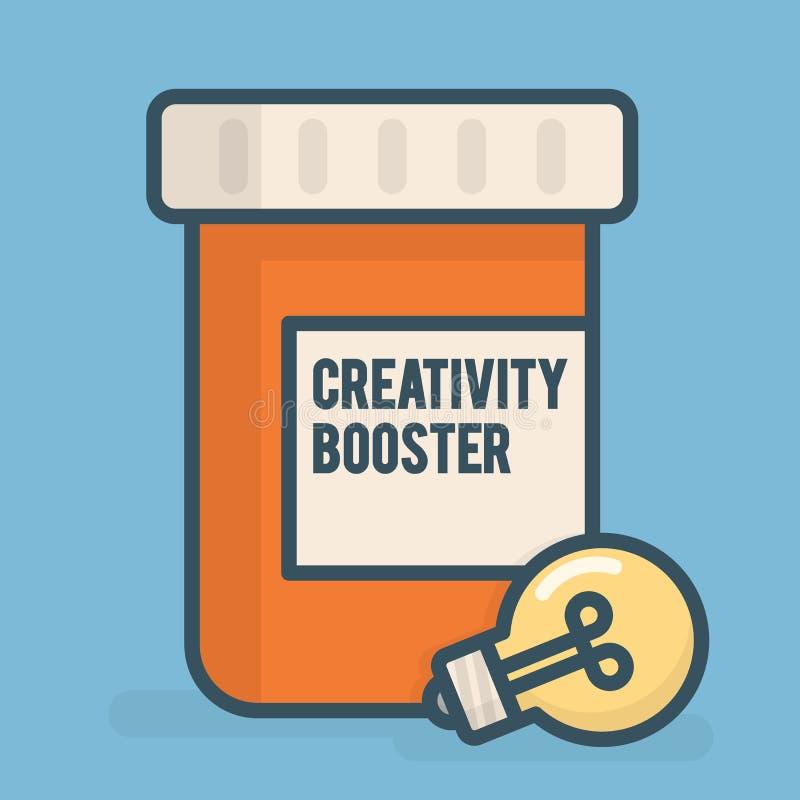 Ejemplo del concepto del negocio del aumentador de presión de la creatividad ilustración del vector
