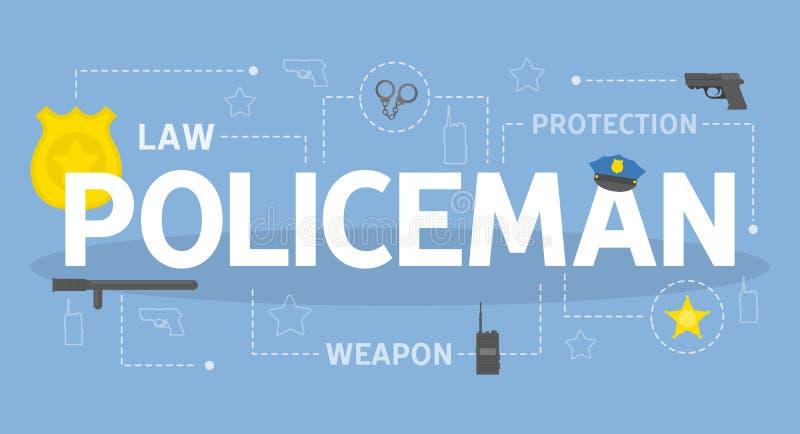 Ejemplo del concepto del policía ilustración del vector