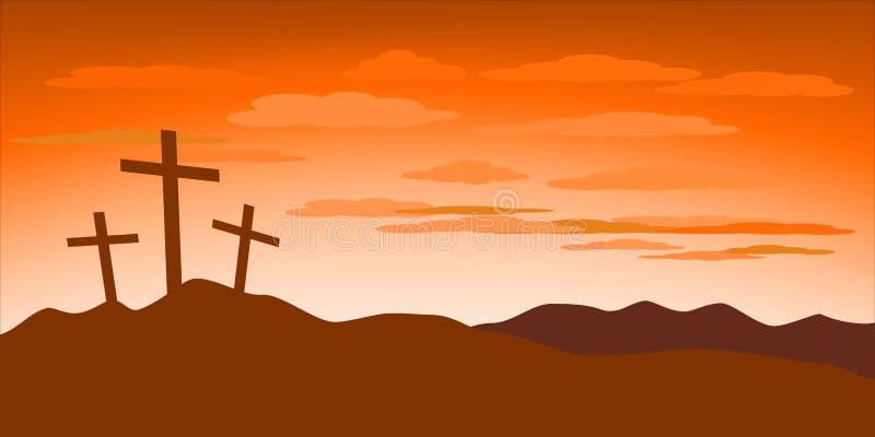 Ejemplo del concepto del Viernes Santo ilustración del vector