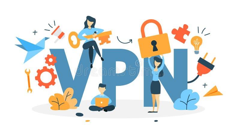 Ejemplo del concepto del VPN libre illustration