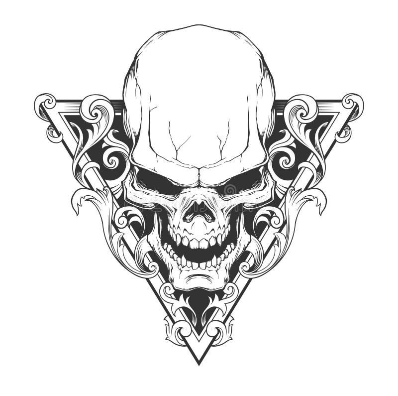 Ejemplo del cráneo stock de ilustración