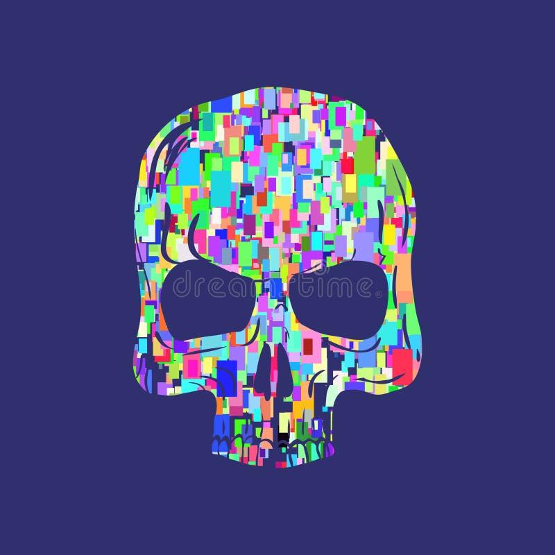 Ejemplo del cráneo, gráficos de la camiseta, vector ilustración del vector