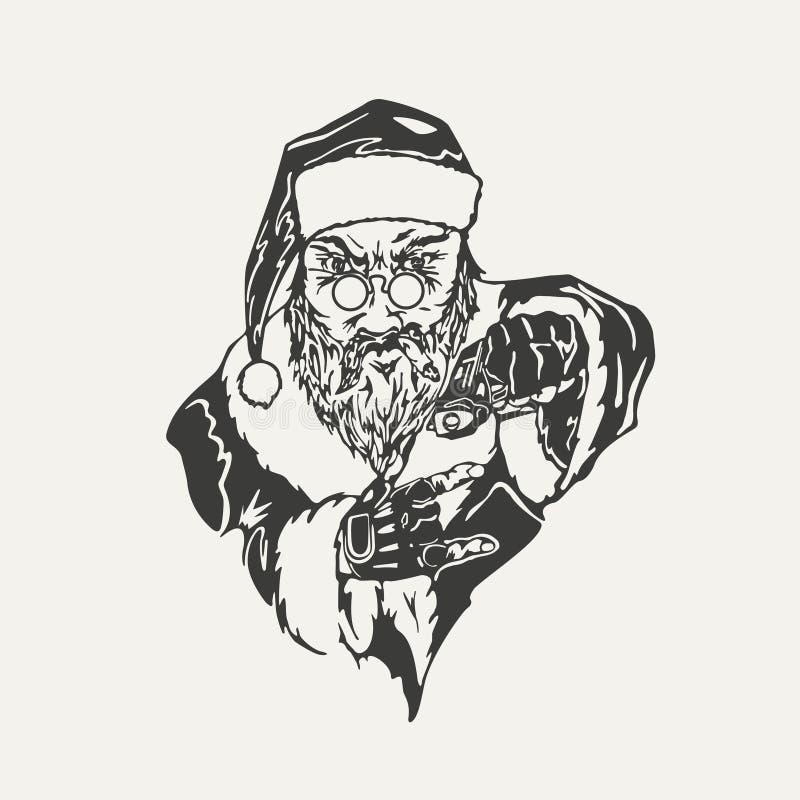 Ejemplo del crimen Santa Claus libre illustration