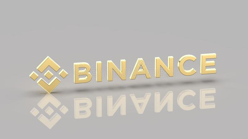 Ejemplo del cryptocurrency de Binance BNB libre illustration