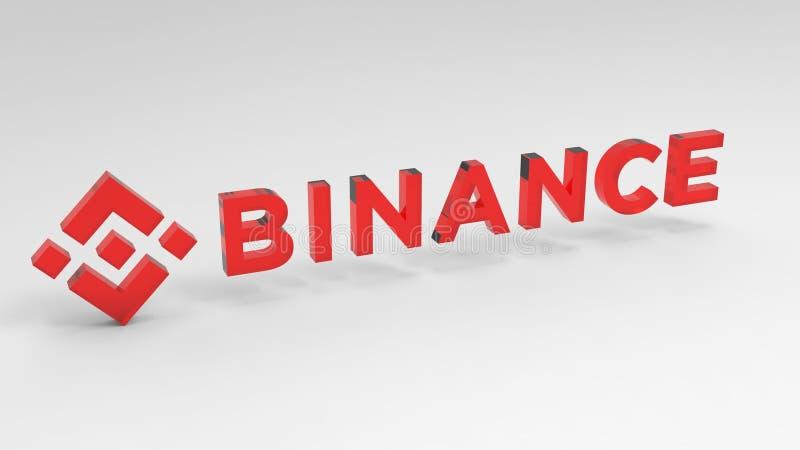 Ejemplo del cryptocurrency de Binance BNB stock de ilustración