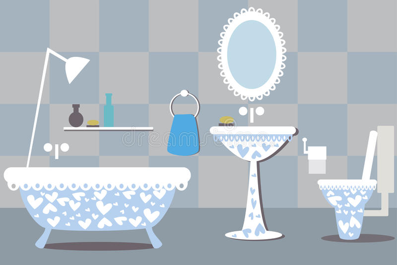 Ejemplo del cuarto de baño ilustración del vector