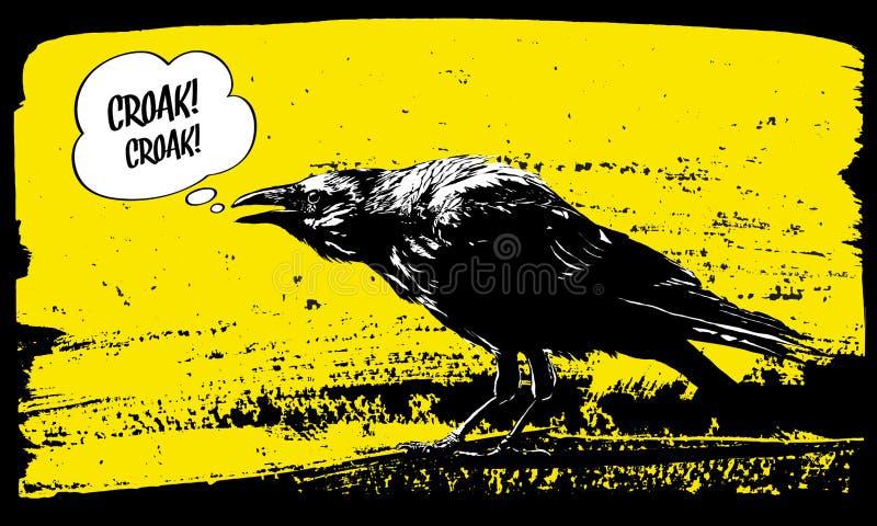 Ejemplo del cuervo stock de ilustración