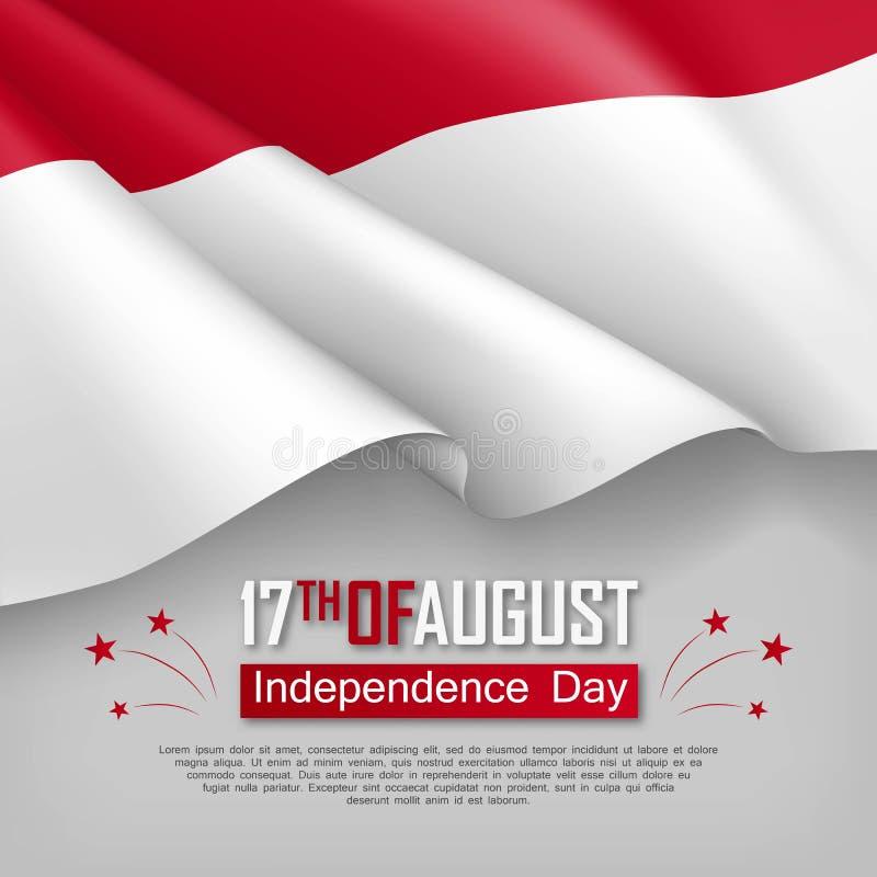 Ejemplo del Día de la Independencia de Indonesia libre illustration