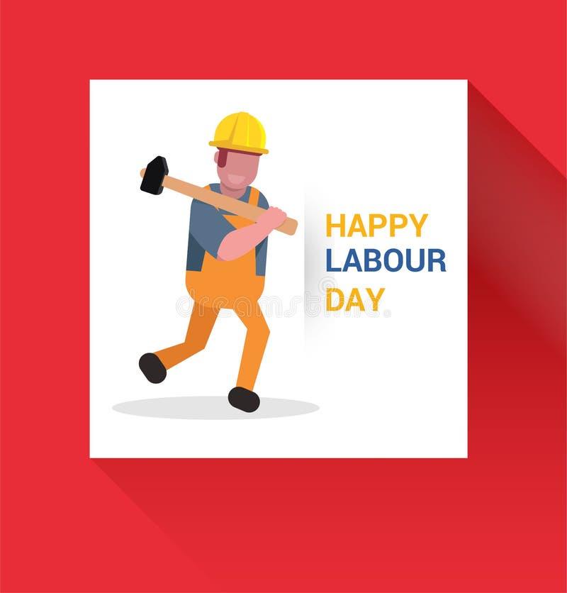 Ejemplo del día de los trabajadores de mayo primer stock de ilustración