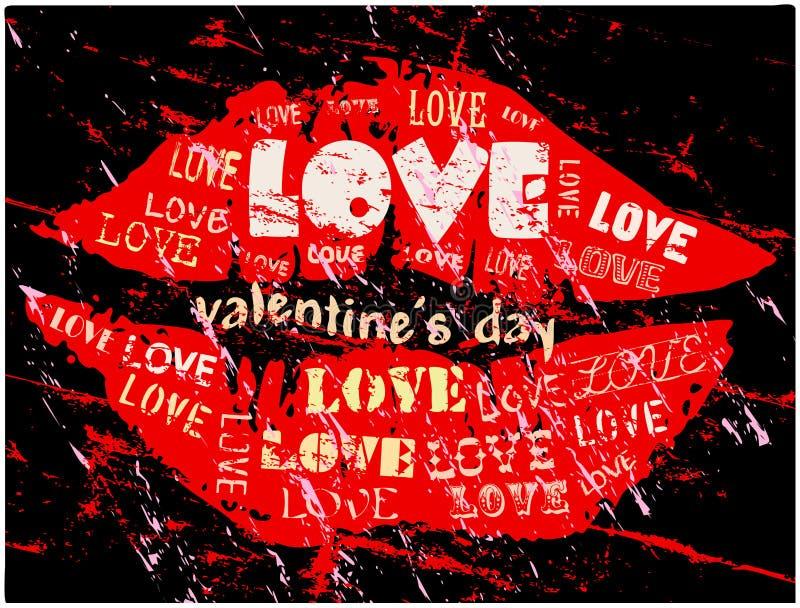 Ejemplo del día de tarjeta del día de San Valentín libre illustration
