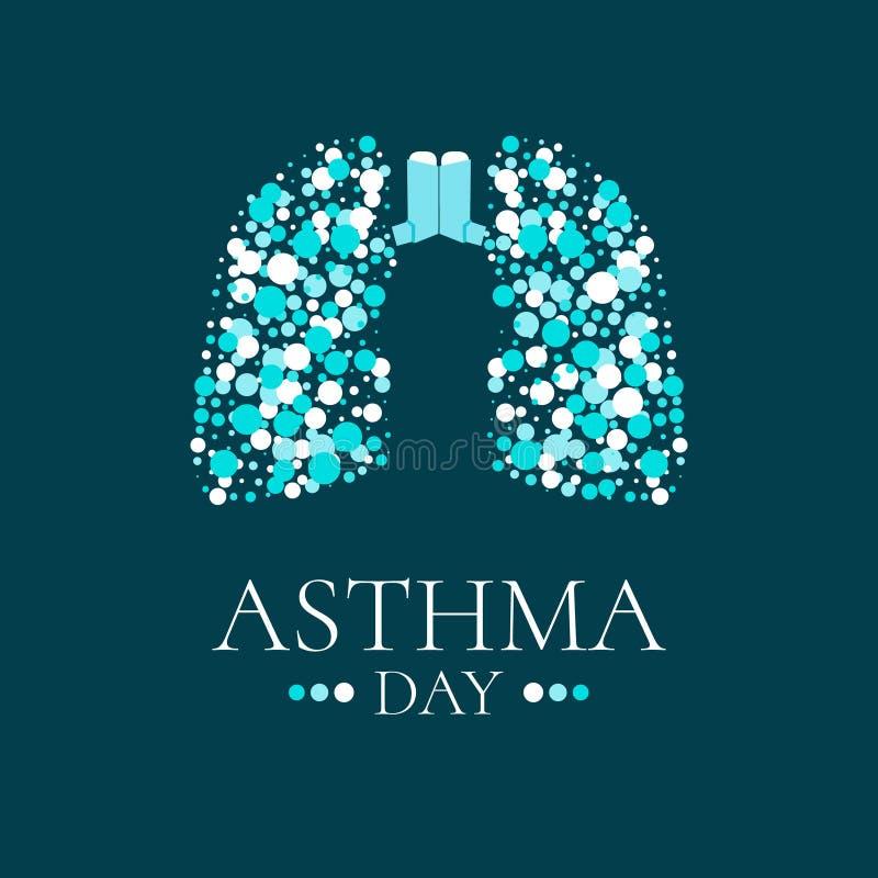 Ejemplo del día del asma del mundo stock de ilustración