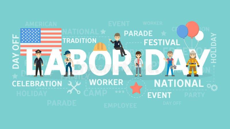 Ejemplo del Día del Trabajo ilustración del vector