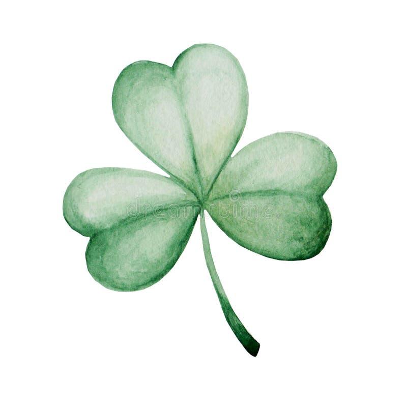 Ejemplo del día del ` s de St Patrick de la acuarela Ornamento del trébol Para el diseño, la impresión o el fondo libre illustration