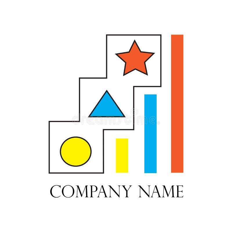 Ejemplo del desarrollo de carrera del hombre de negocios con la estrella en el top libre illustration