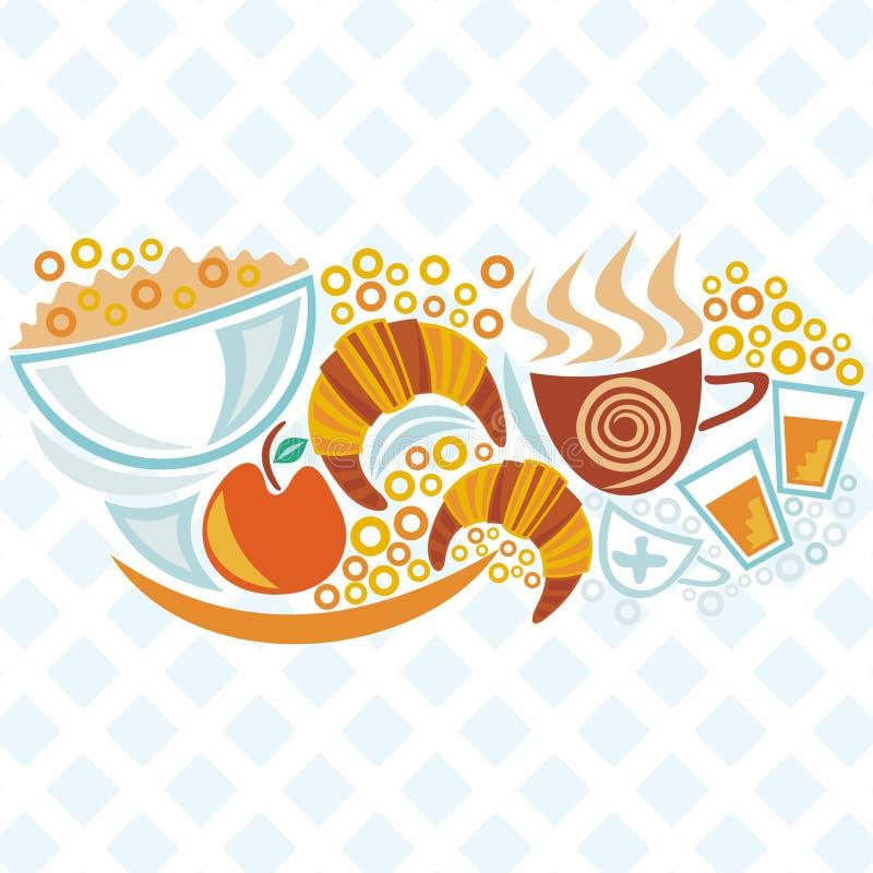 Ejemplo del desayuno ilustración del vector
