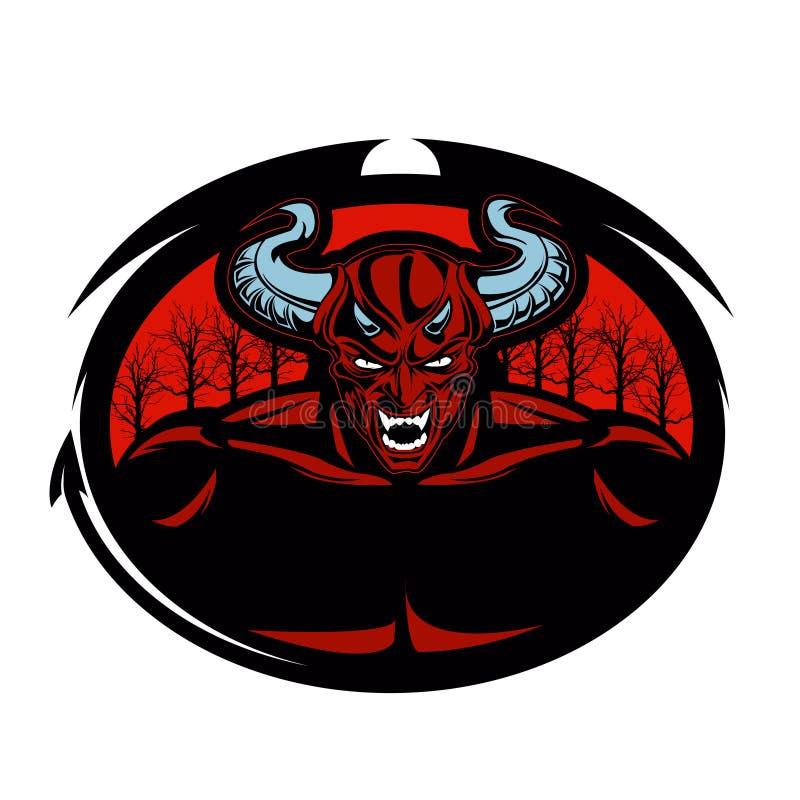 Ejemplo del diablo rojo stock de ilustración