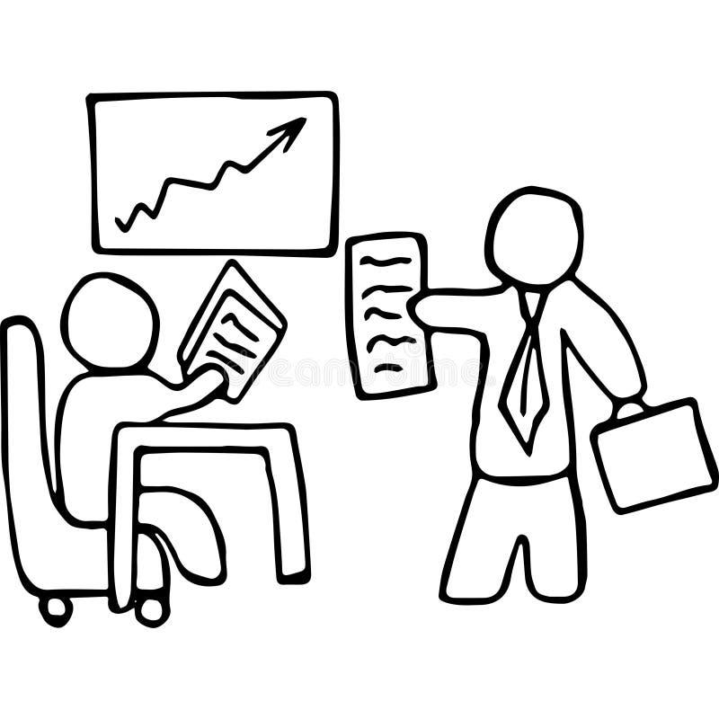 Ejemplo del dibujo de la mano de la reunión del Consejo stock de ilustración