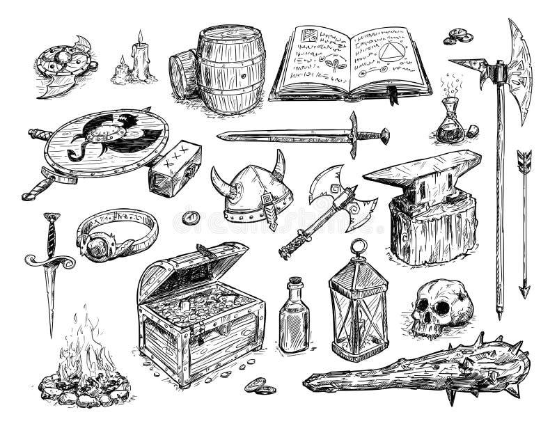 Ejemplo del dibujo del vector del apoyo determinado de la fantasía libre illustration
