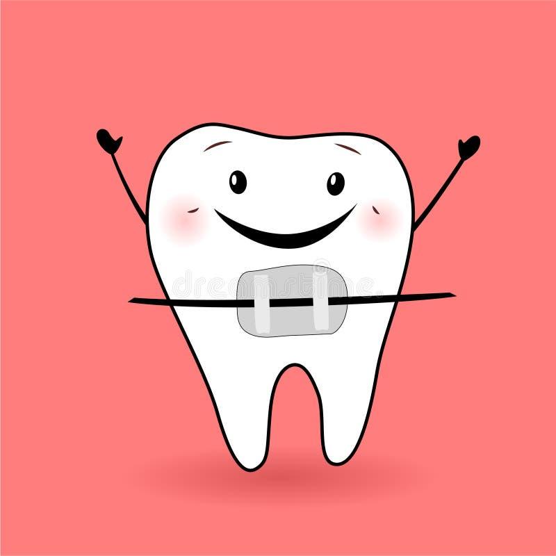 Ejemplo del diente ilustración del vector
