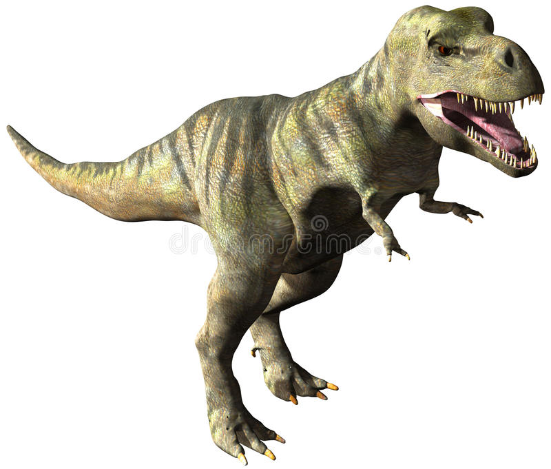 Ejemplo del dinosaurio de TRex del tiranosaurio aislado ilustración del vector