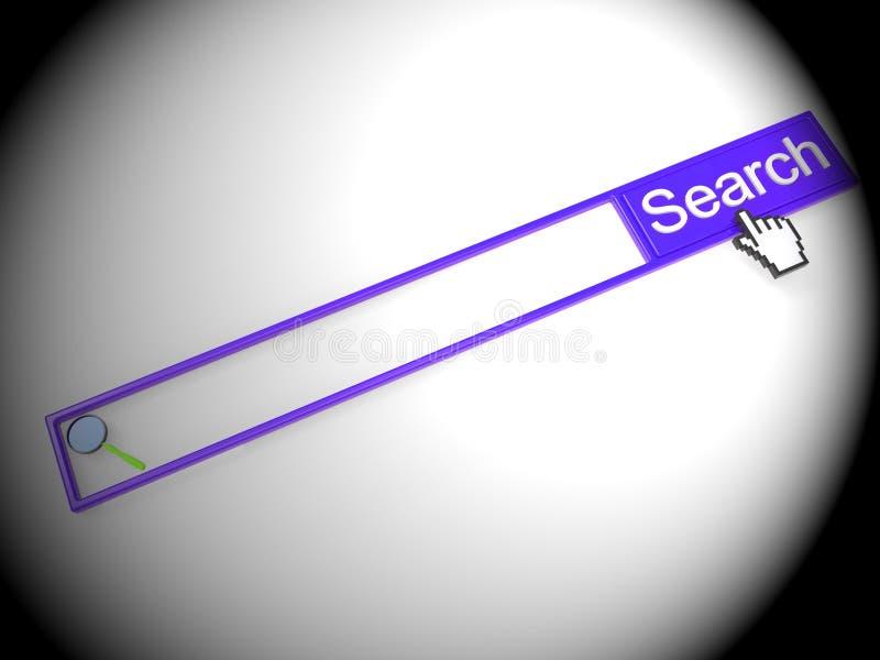 Ejemplo del directorio de Digitaces de la búsqueda del número de teléfono 2.o stock de ilustración