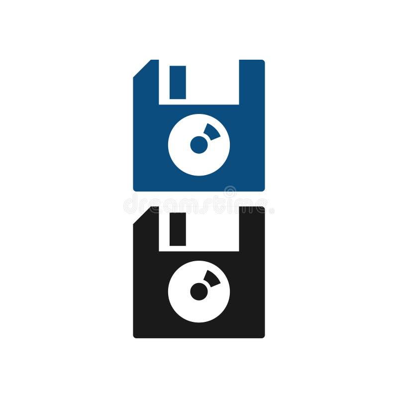 Ejemplo del disco blando del vector de la plantilla del diseño gráfico del disquete libre illustration