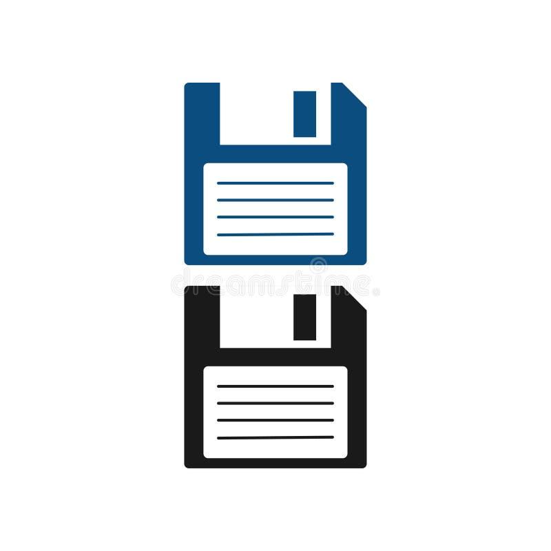 Ejemplo del disco blando del vector de la plantilla del diseño gráfico del disquete stock de ilustración