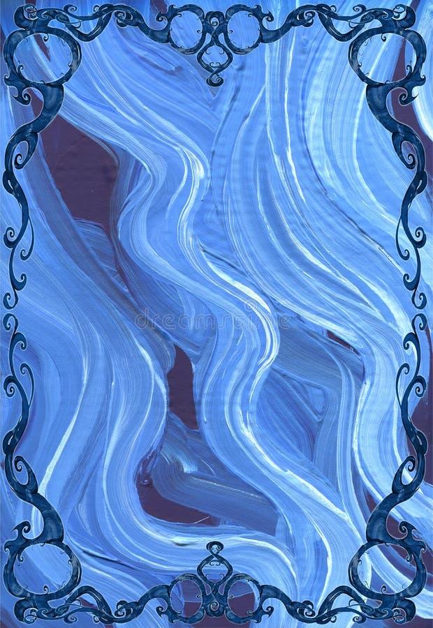 Ejemplo del diseño de Digitaces de un elemento hermoso, elegante y encrespado del marco con la planta y el tema natural libre illustration