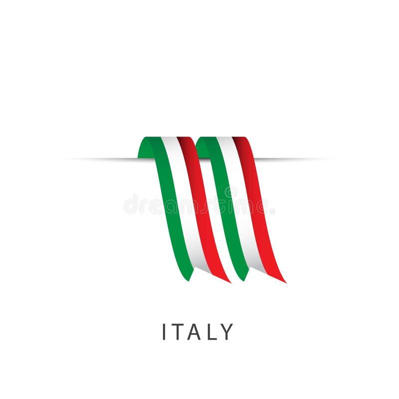 Ejemplo del diseño de la plantilla del vector de la bandera de la cinta de Italia libre illustration