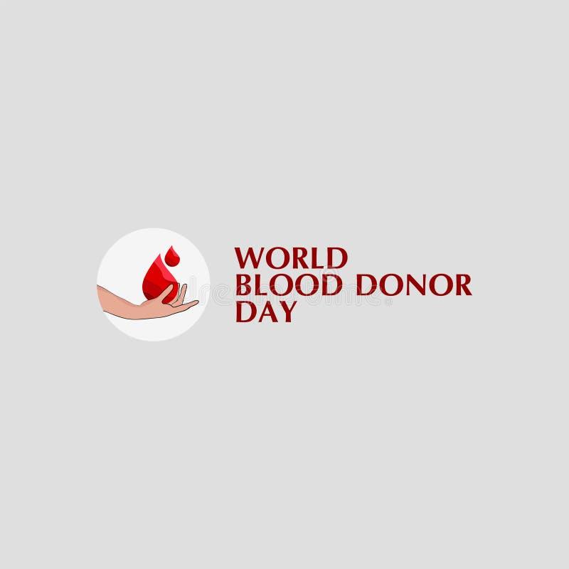 Ejemplo del dise?o de la plantilla del vector del d?a del donante de sangre del mundo libre illustration