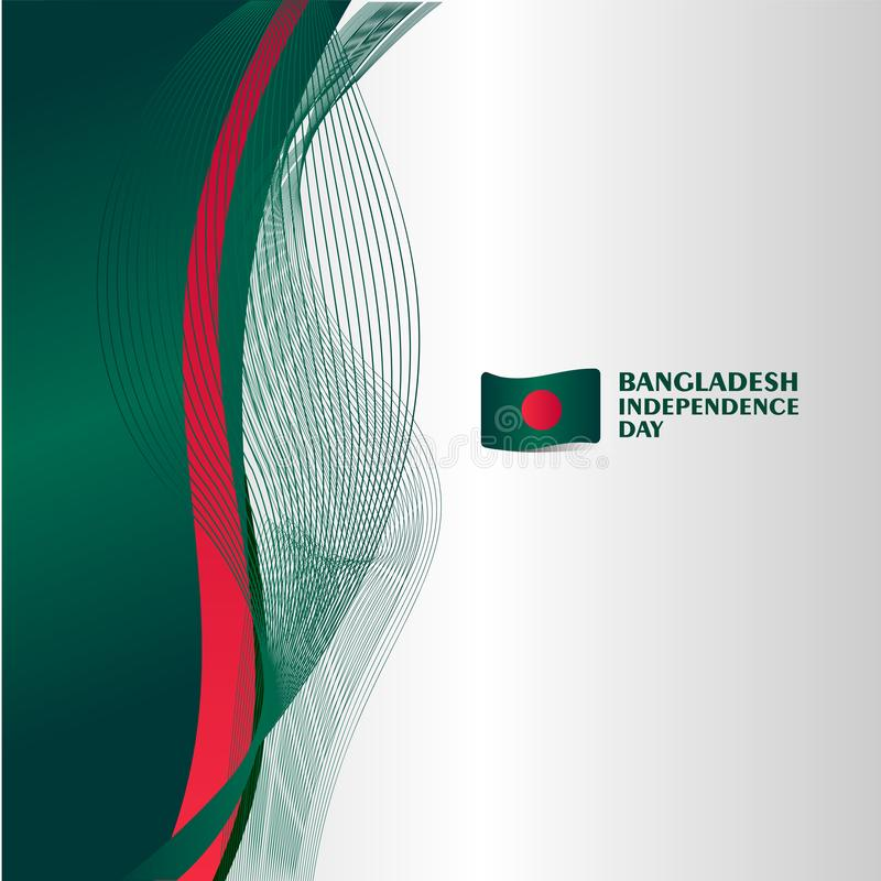 Ejemplo del diseño de la plantilla del vector del Día de la Independencia de Bangladesh stock de ilustración