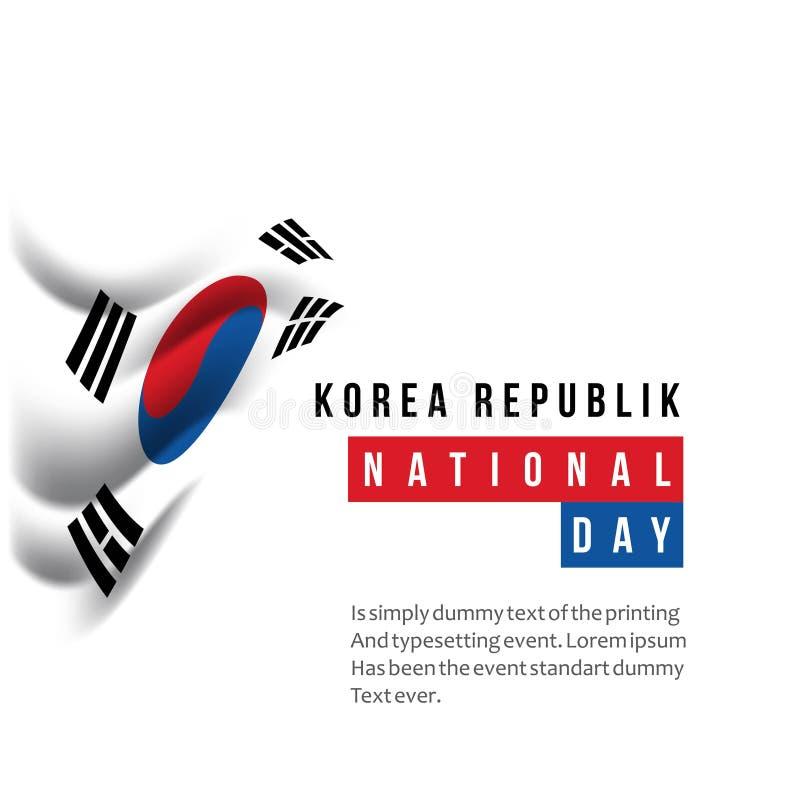 Ejemplo del diseño de la plantilla del vector del día nacional de la república de Corea stock de ilustración