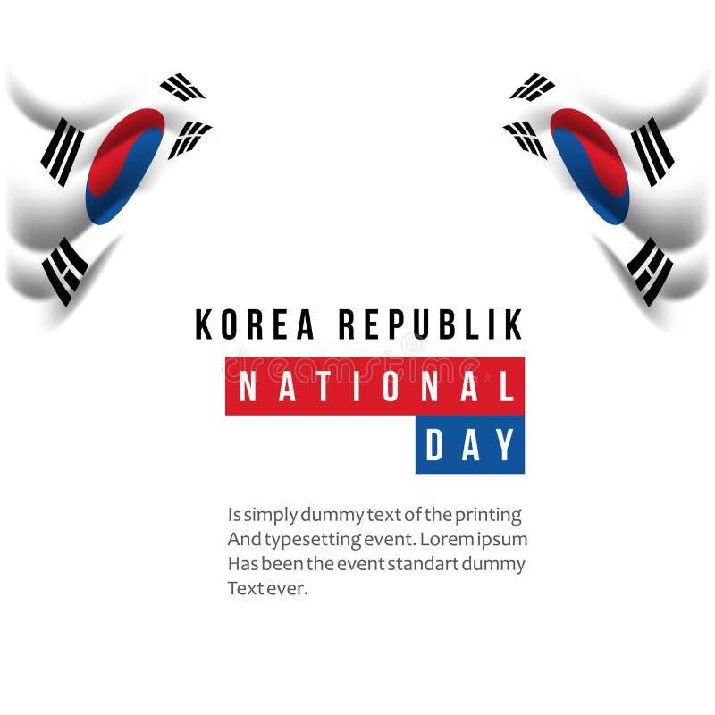 Ejemplo del diseño de la plantilla del vector del día nacional de la república de Corea ilustración del vector