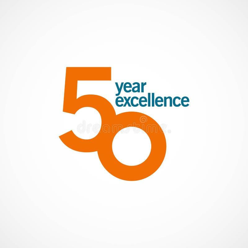 Ejemplo del diseño de la plantilla del vector de la excelencia del aniversario de 50 años stock de ilustración