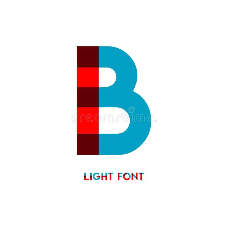 Ejemplo del diseño de la plantilla del vector de la fuente de la luz de B ilustración del vector