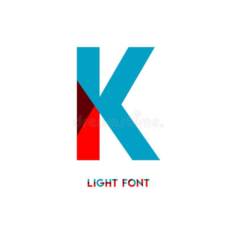 Ejemplo del diseño de la plantilla del vector de la fuente de la luz de K libre illustration