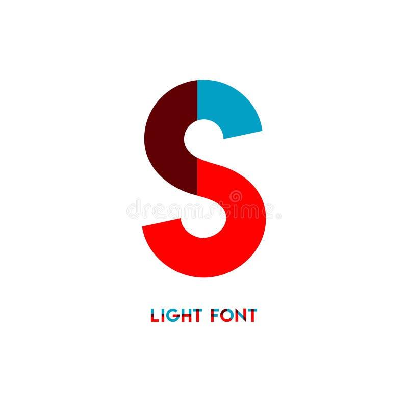 Ejemplo del diseño de la plantilla del vector de la fuente de la luz de S stock de ilustración