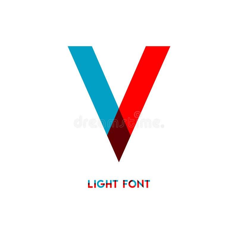 Ejemplo del diseño de la plantilla del vector de la fuente de la luz de V ilustración del vector