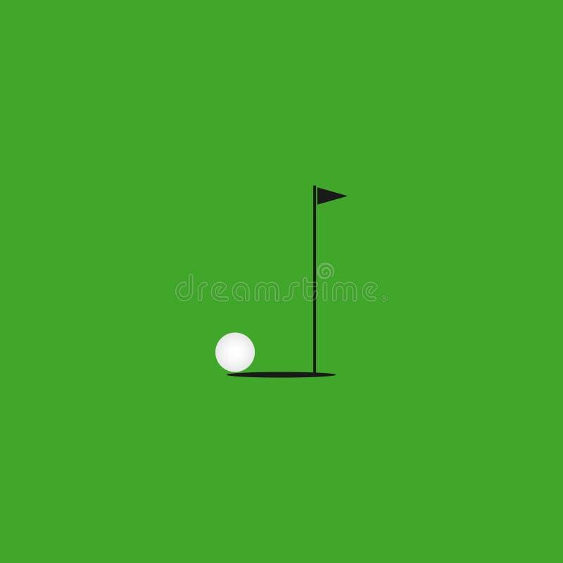 Ejemplo del diseño de la plantilla del vector del golf ilustración del vector