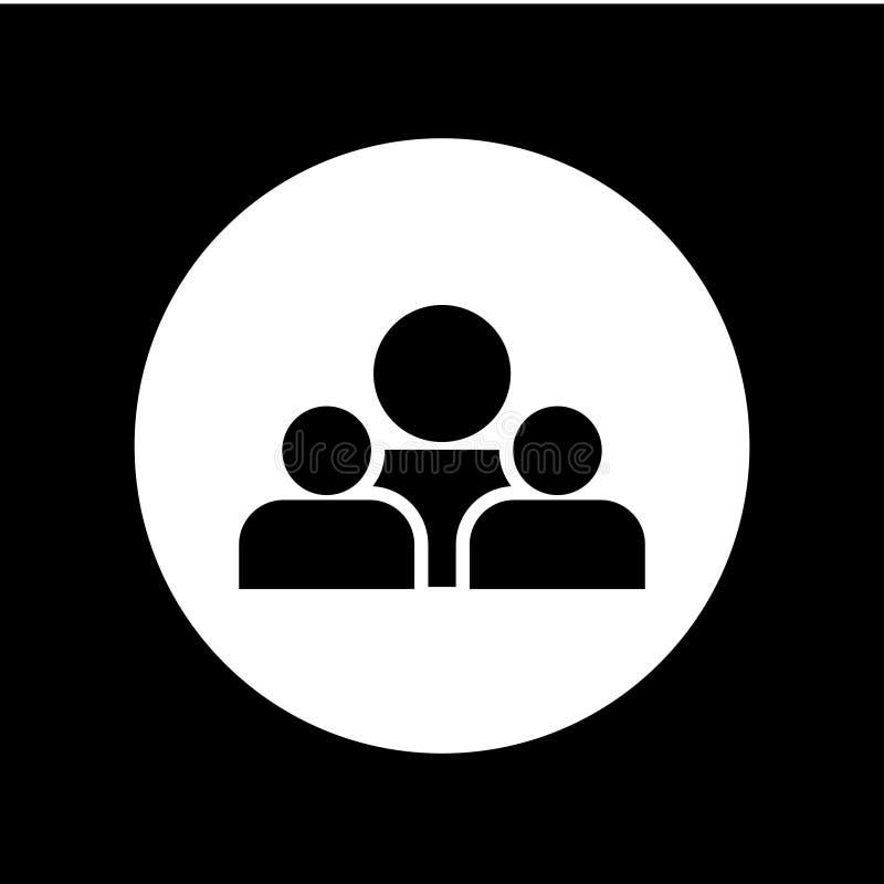 Ejemplo del diseño de la plantilla del vector del icono de la gente del grupo stock de ilustración