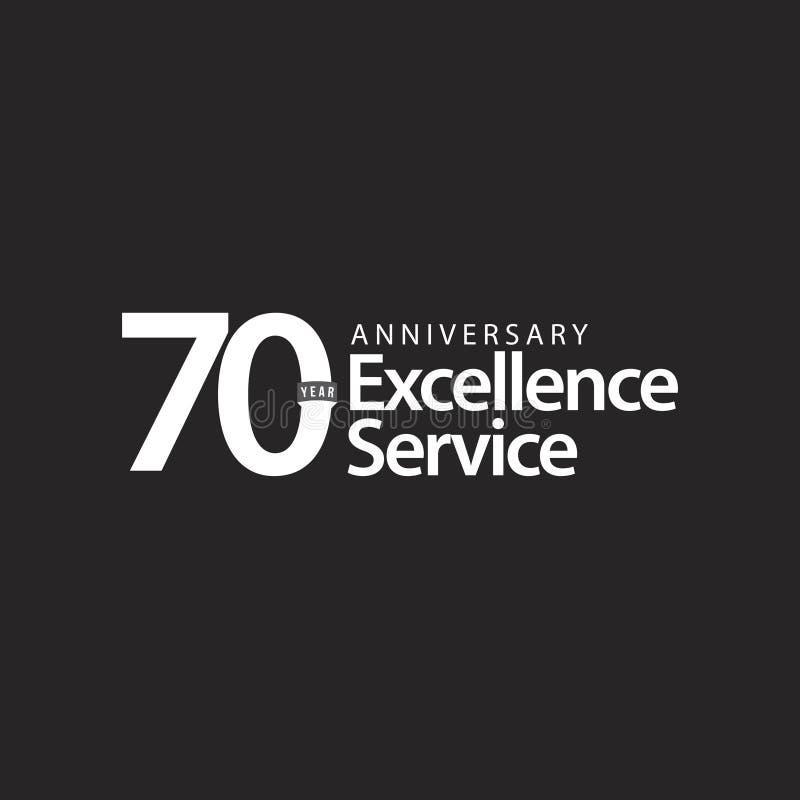 Ejemplo del diseño de la plantilla del vector del servicio de la excelencia del aniversario de 70 años ilustración del vector