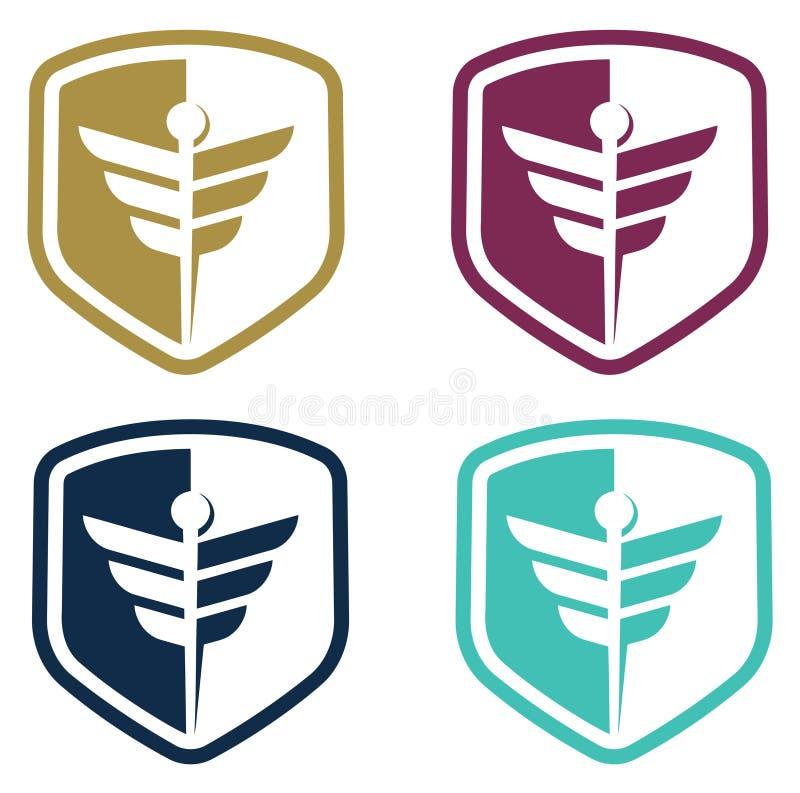 Ejemplo del diseño del logotipo de la salud y de la salud libre illustration