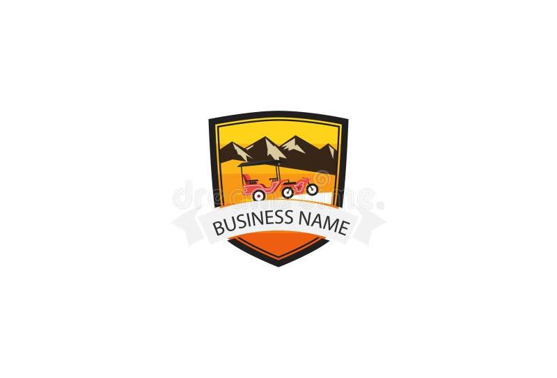 Ejemplo del diseño del logotipo del desafío de la bici libre illustration