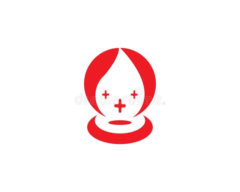 Ejemplo del diseño del logotipo del icono de la sangre libre illustration