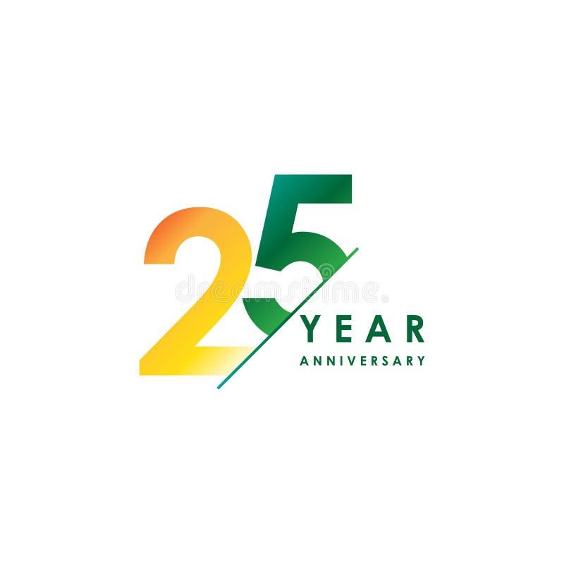Ejemplo del diseño del vector del aniversario de 25 años ilustración del vector