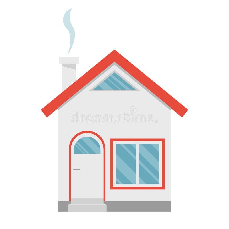 Ejemplo del diseño del vector de la casa aislado en el fondo blanco fotografía de archivo