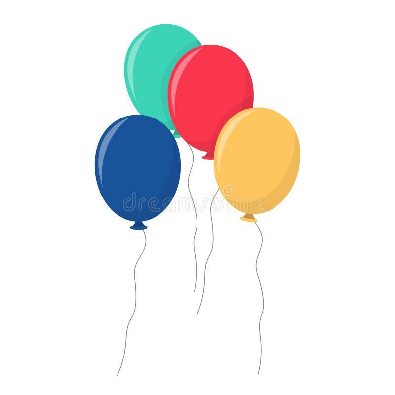 Ejemplo del diseño del vector de los impulsos de la fiesta de cumpleaños aislado en el fondo blanco imagen de archivo