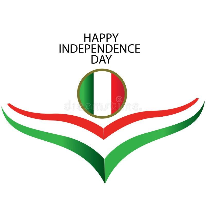 Ejemplo del dise?o de la plantilla del vector del D?a de la Independencia de Italia - vector ilustración del vector